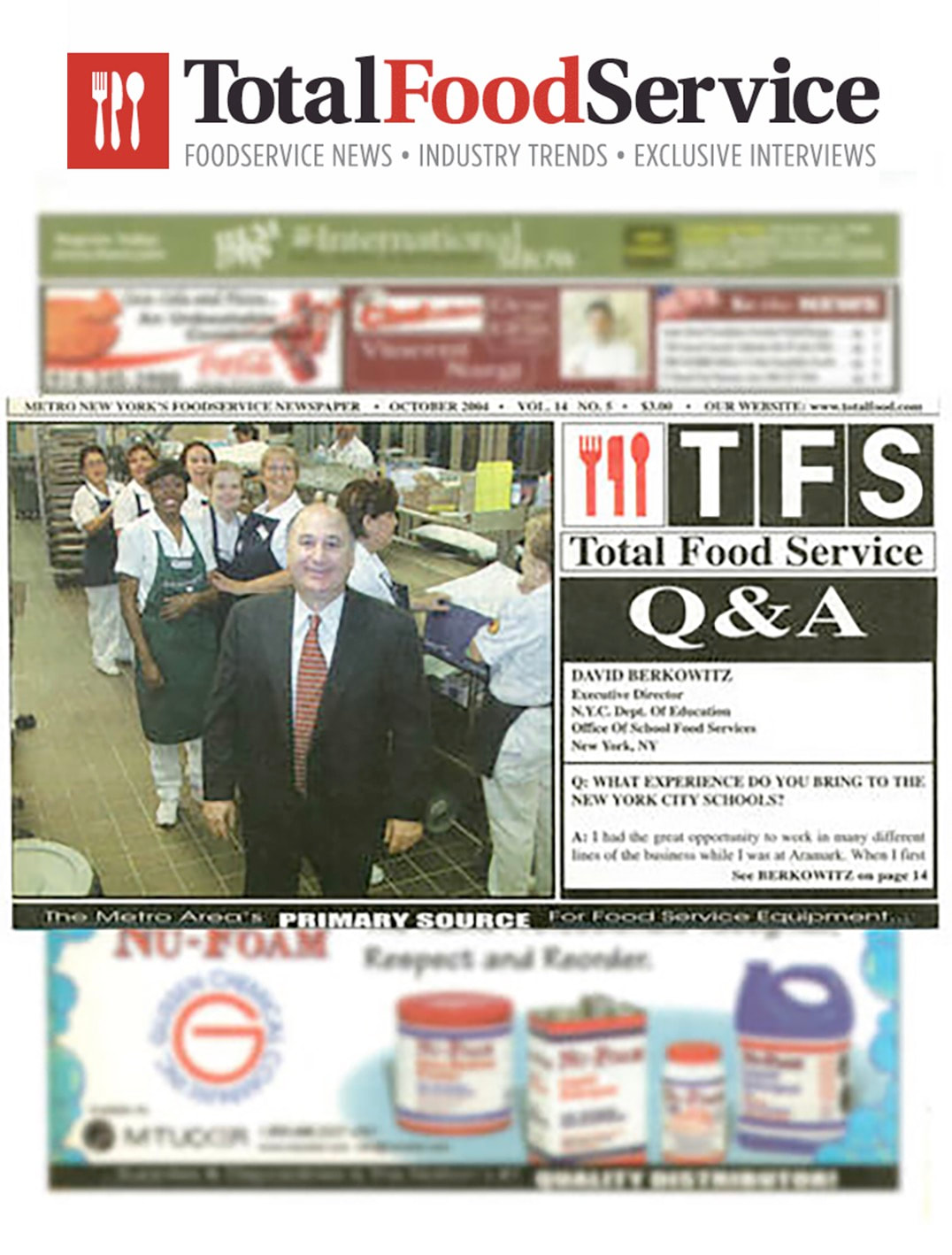 Total Food Service Magazine Cover